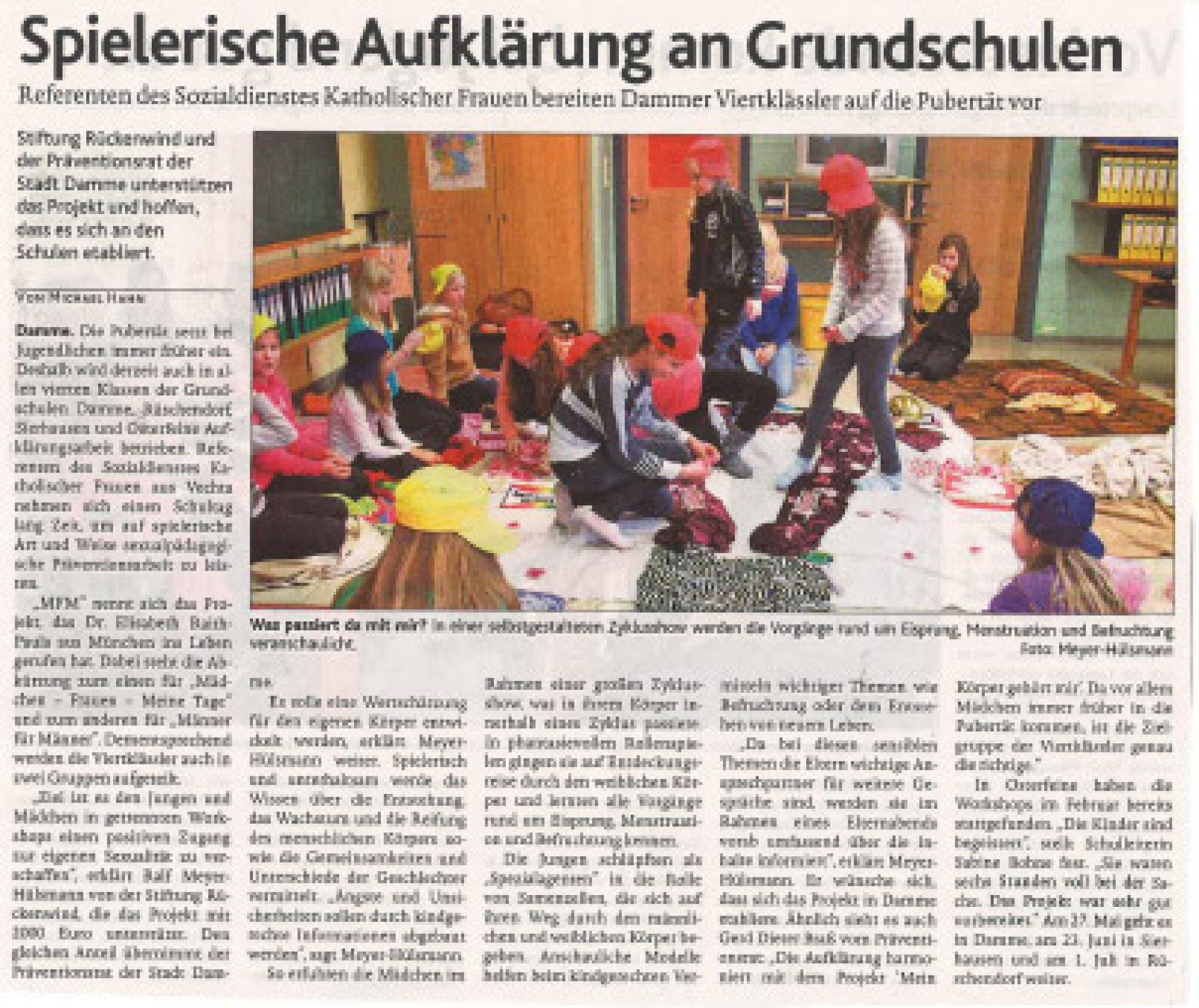 Oldenburgische Volkszeitung: Spielerische Aufklärung - MFM ...  Oldenburgische ...